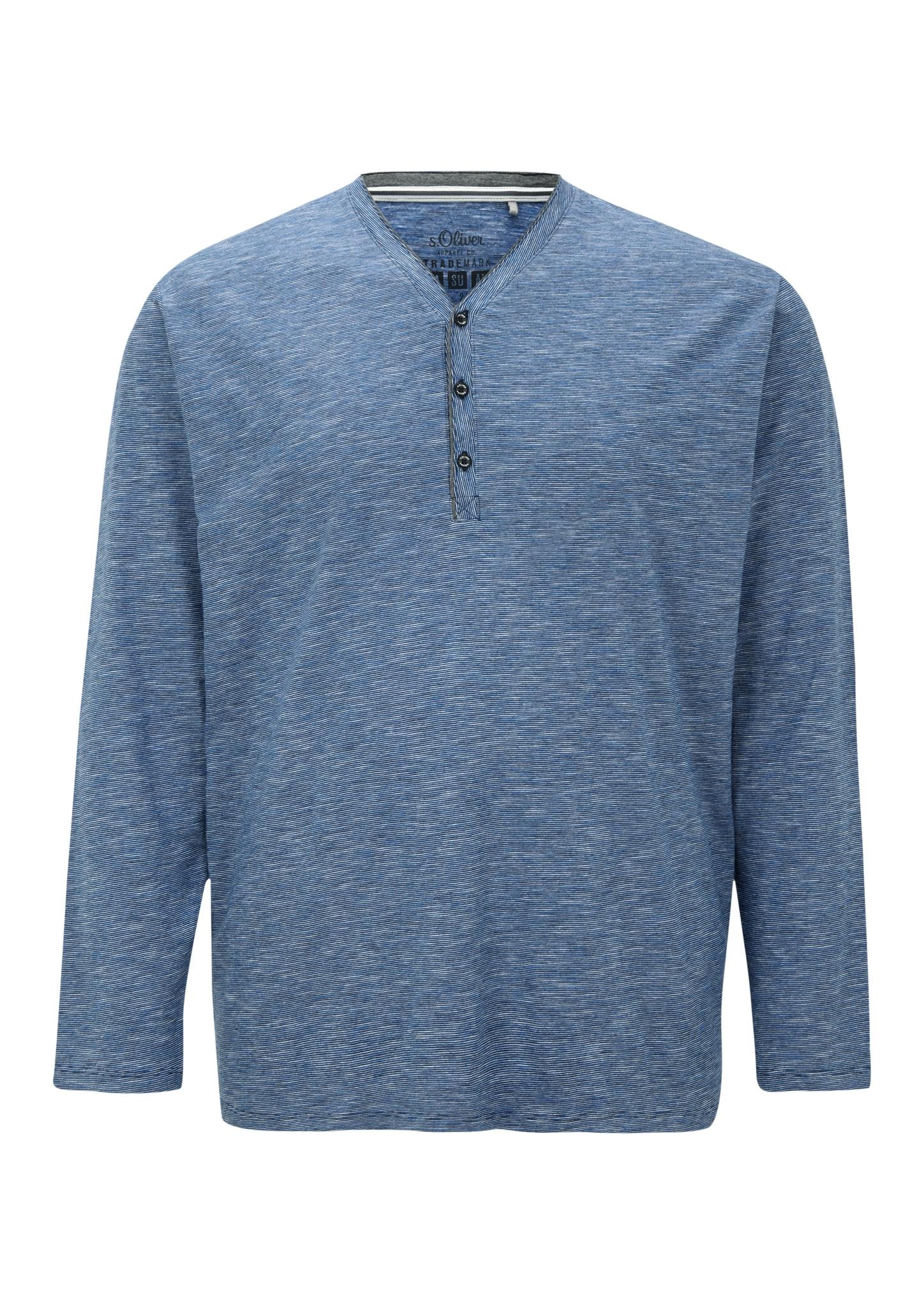 Langarmshirt   Bekleidung > Shirts > Langarm Shirts   Blau   100% baumwolle   s.Oliver Men Big Sizes