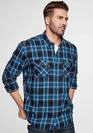 Regular: Kariertes Button Down-Hemd