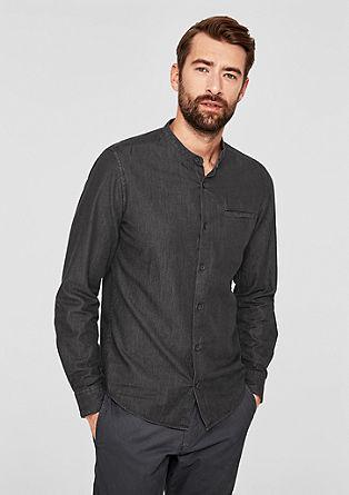 Tall Size: Hemd mit Stehkragen