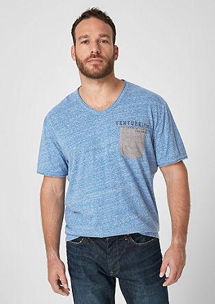 Gemêleerd jersey shirt in een used look