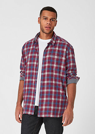 Regular: twill shirt with a check pattern from s.Oliver