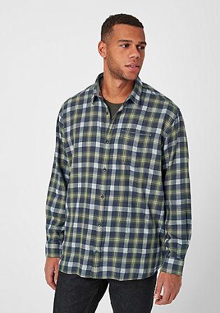 Regular: keprová košile s károvaným vzorem