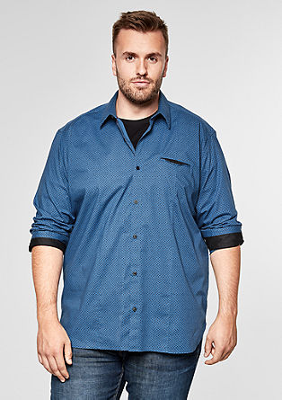 Regular: patterned stretch shirt from s.Oliver