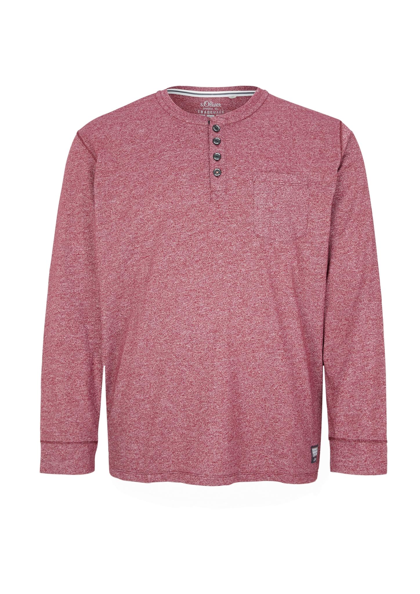 Langarmshirt | Bekleidung > Shirts > Langarm Shirts | Rosa | 50% baumwolle -  50% polyester | s.Oliver Men Big Sizes