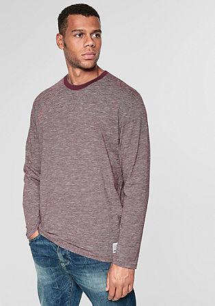 Tričko s dlouhým rukávem a úzkými proužky