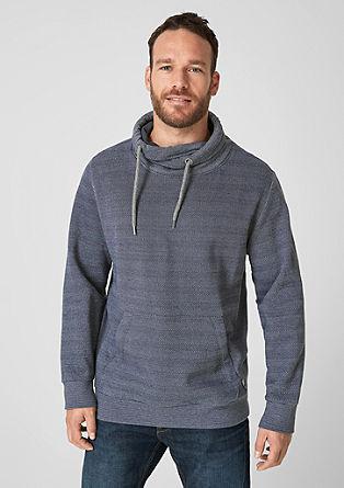 Sweatshirt mit Fischgrat-Muster