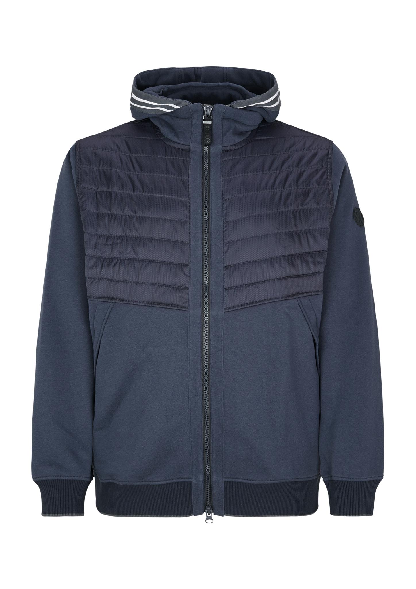 Sweatjacke   Bekleidung > Sweatshirts & -jacken   Blau   Obermaterial 60% baumwolle -  40% polyester  einsatz 100% polyamid  manschette/bund 52% baumwolle -  43% polyester -  5% elasthan   s.Oliver Men Big Sizes
