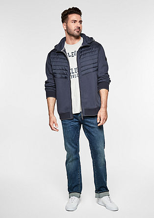Sweatshirt jacket with quilted details from s.Oliver