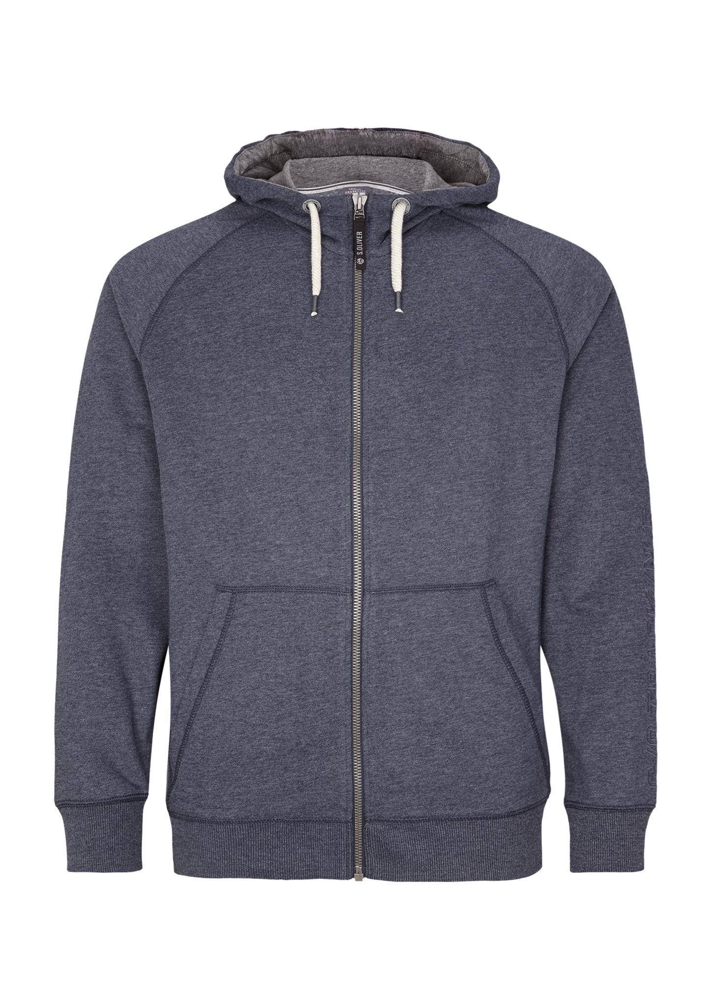 Sweatjacke | Bekleidung > Sweatshirts & -jacken > Sweatjacken | Blau | Obermaterial 73% baumwolle -  25% polyester -  2% viskose| manschette/bund 98% baumwolle -  2% viskose | s.Oliver Men Big Sizes