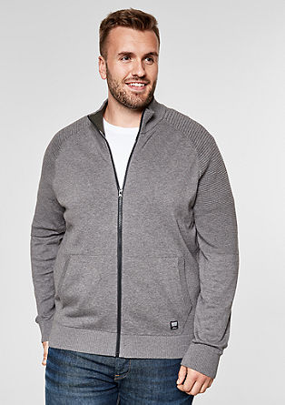 Textured cardigan with zip from s.Oliver