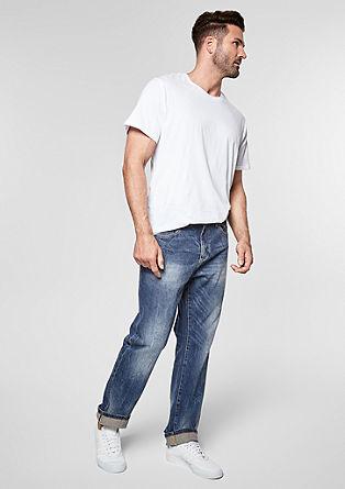 Scube Relaxed: jeans hlače obrabljenega videza s pasom