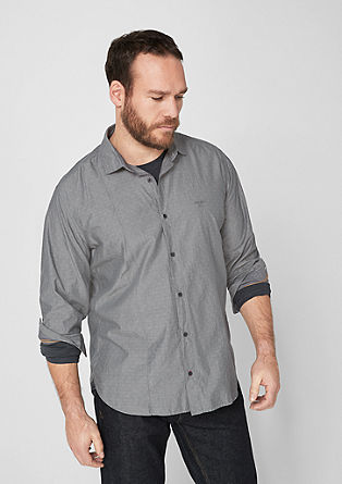 Slim: textured cotton shirt from s.Oliver