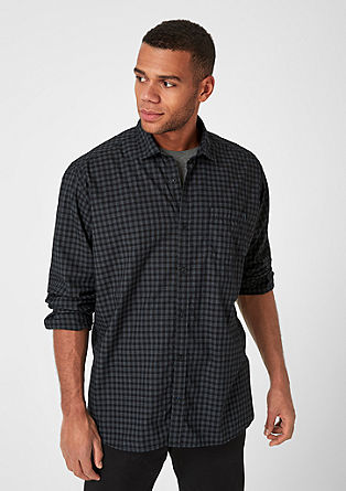 Regular: fine check shirt from s.Oliver