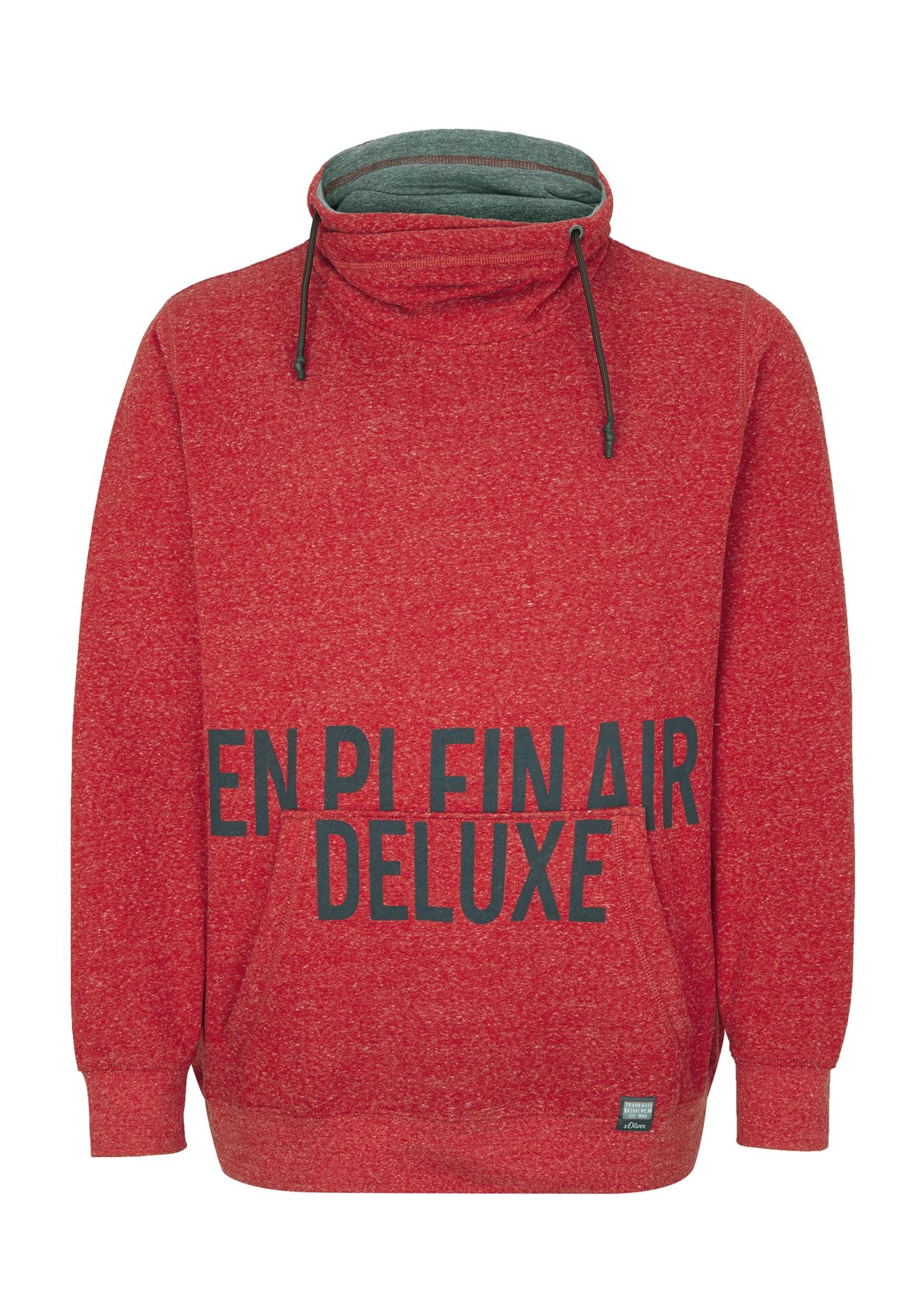 Sweatshirt | Bekleidung > Sweatshirts & -jacken > Sweatshirts | Rot | 50% baumwolle -  33% viskose -  17% polyester | s.Oliver Men Big Sizes