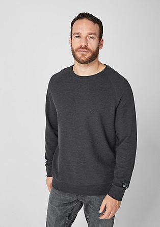 Luchtig gestructureerd sweatshirt
