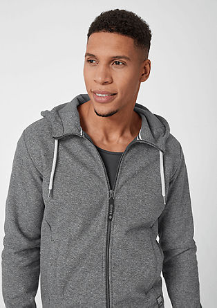 Tall Size: Sweatshirt jacket with a hood from s.Oliver