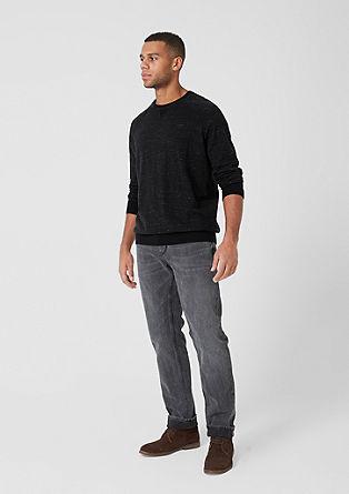Melierter Raglan-Pullover