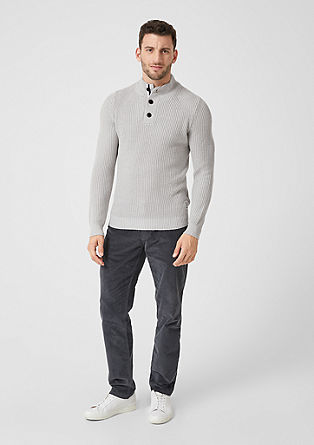 Button neck rib knit jumper from s.Oliver