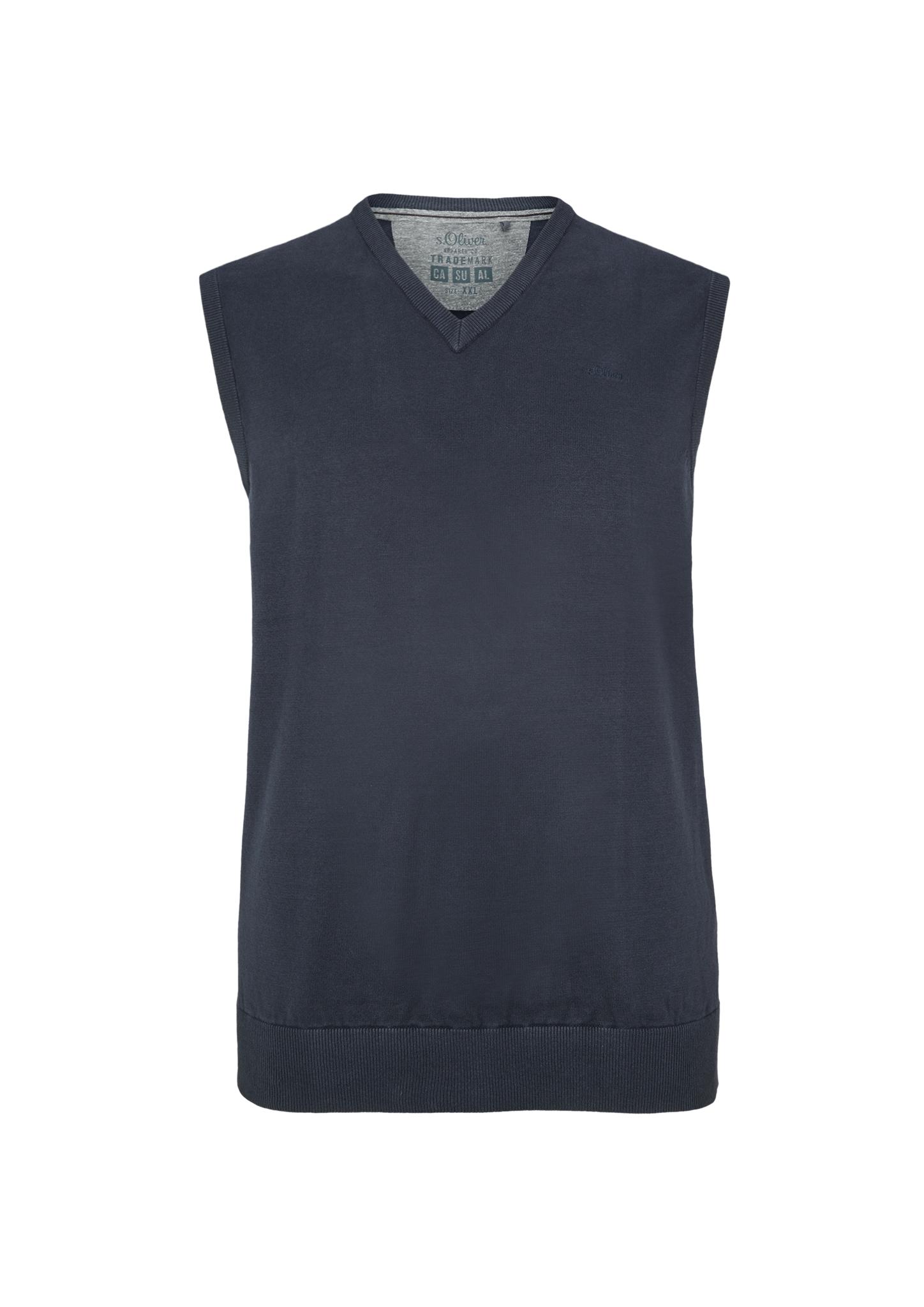 Pullunder | Bekleidung > Pullover > Pullunder | Blau | 100% baumwolle | s.Oliver Men Big Sizes