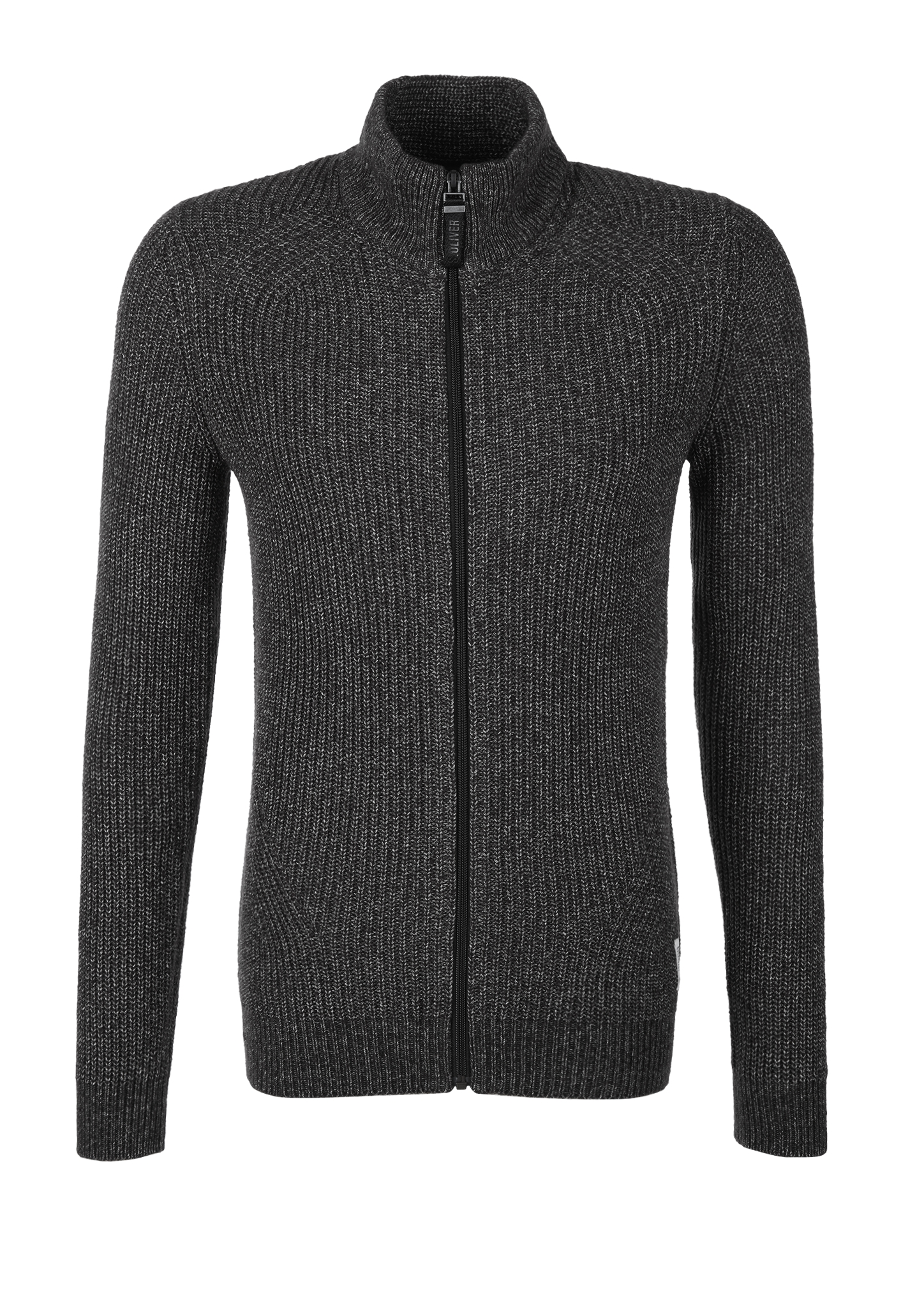 Strickjacke | Bekleidung > Strickjacken & Cardigans | Grau | 52% baumwolle -  48% polyacryl | s.Oliver