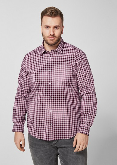 Regular: check cotton shirt from s.Oliver