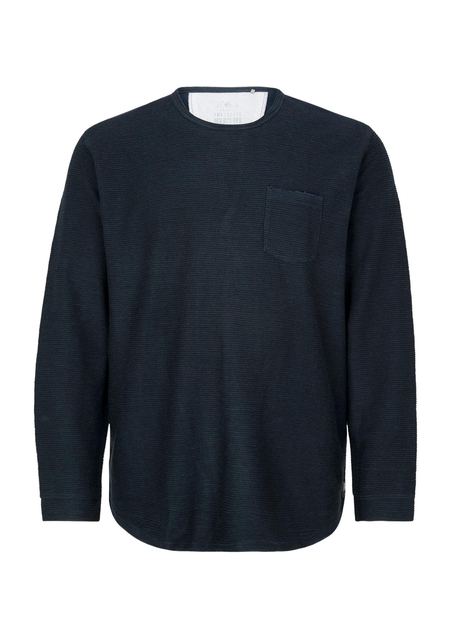 Langarmshirt | Bekleidung > Shirts > Langarm Shirts | Blau | 88% baumwolle -  12% polyester | s.Oliver Men Big Sizes