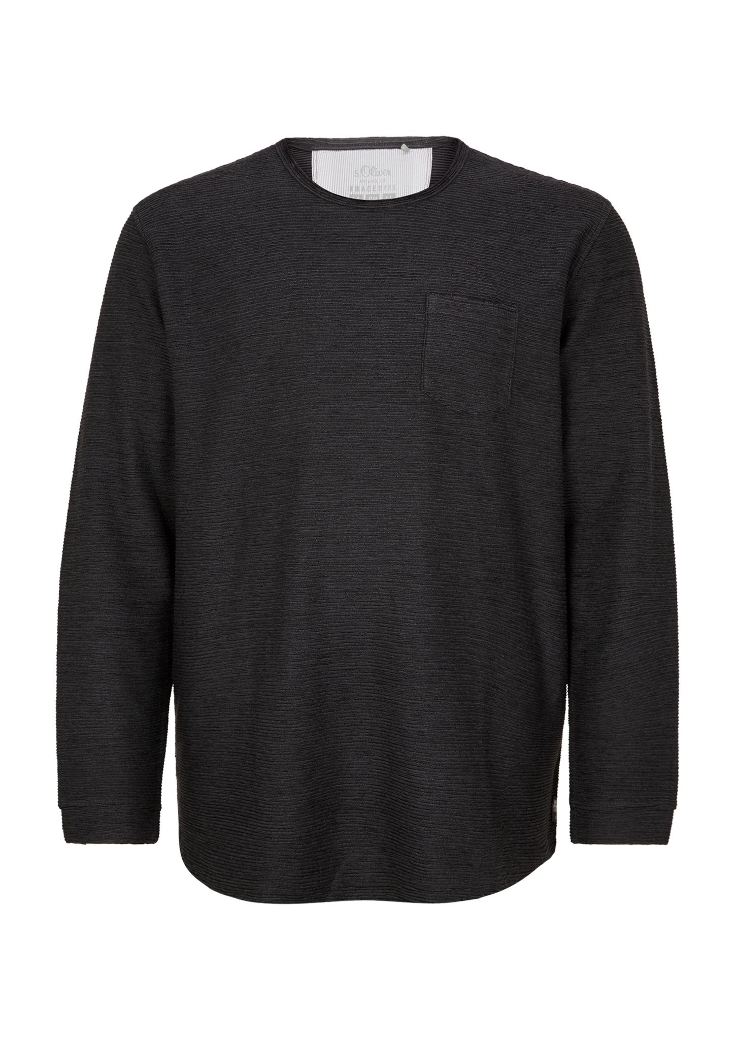 Langarmshirt   Bekleidung > Shirts > Langarm Shirts   Schwarz   88% baumwolle -  12% polyester   s.Oliver Men Big Sizes