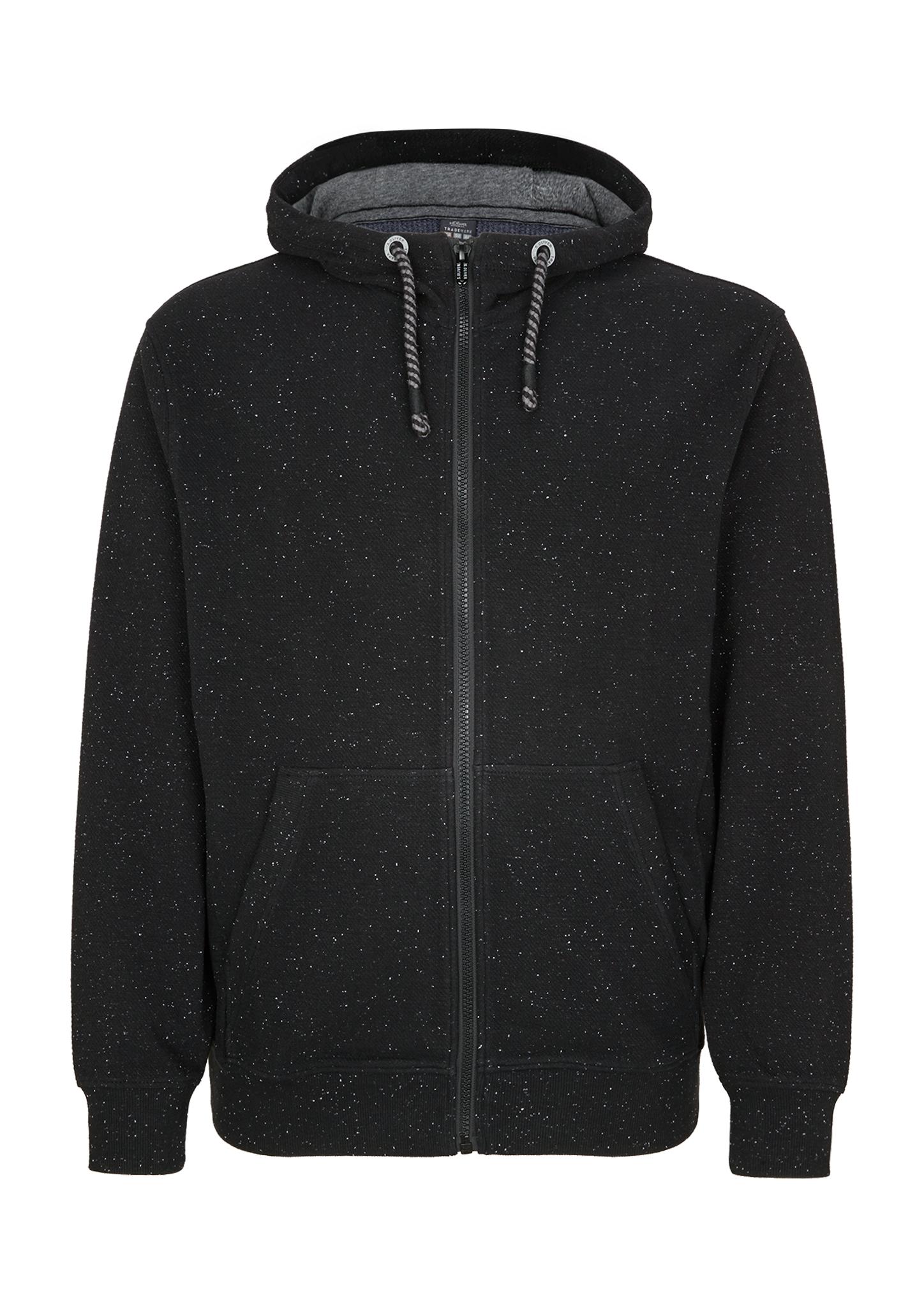 Sweatjacke | Bekleidung > Sweatshirts & -jacken > Sweatjacken | Grau | Oberstoff: 84% baumwolle -  13% polyester -  3% elasthan| manschette/bund: 89% baumwolle -  7% polyester -  4% elasthan | s.Oliver Men Big Sizes