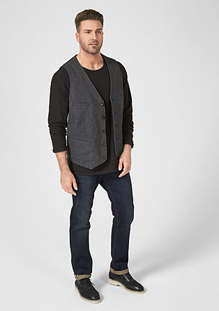 Textured cotton waistcoat from s.Oliver