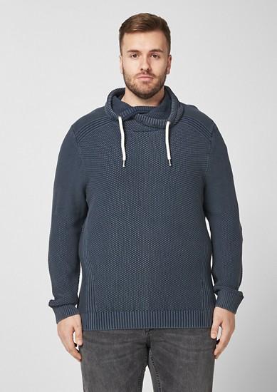 Garment Dye-Pullover mit Turtleneck