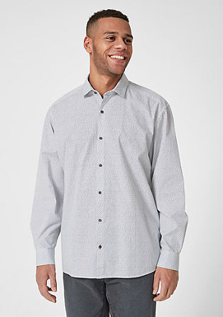 Regular: patterned cotton shirt from s.Oliver