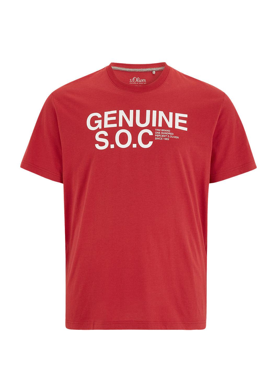 s.Oliver - T-shirt en jersey animé d'une inscription - 4
