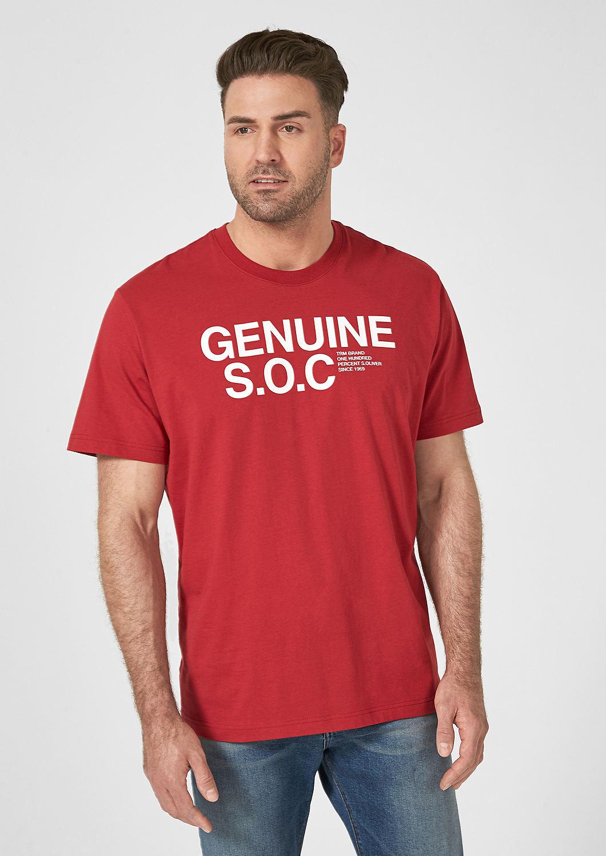 s.Oliver - T-shirt en jersey animé d'une inscription - 1