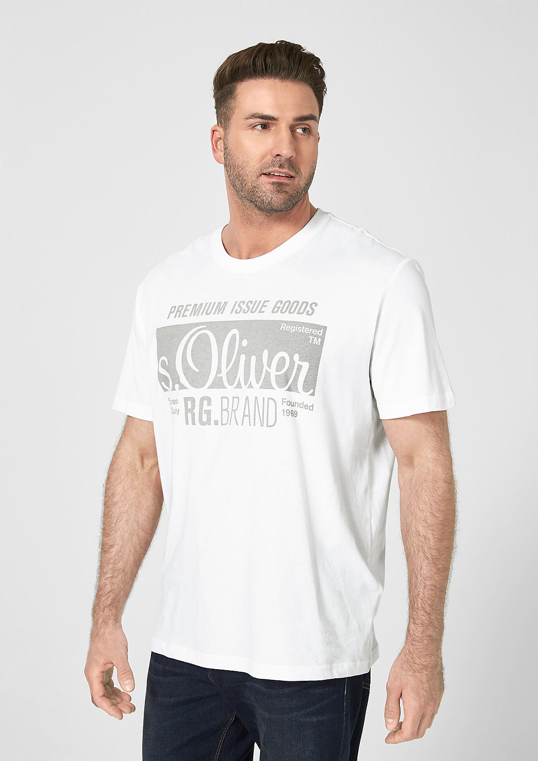 s.Oliver - Basicshirt mit Label-Print - 4