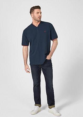 Poloshirt mit Stehkragen