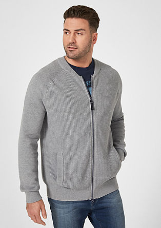 Strickjacke im Blouson-Style from s.Oliver