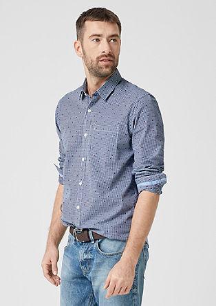 Tall Size: Hemd mit Krawattenmuster