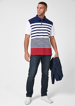 Poloshirt mit maritimen Streifen