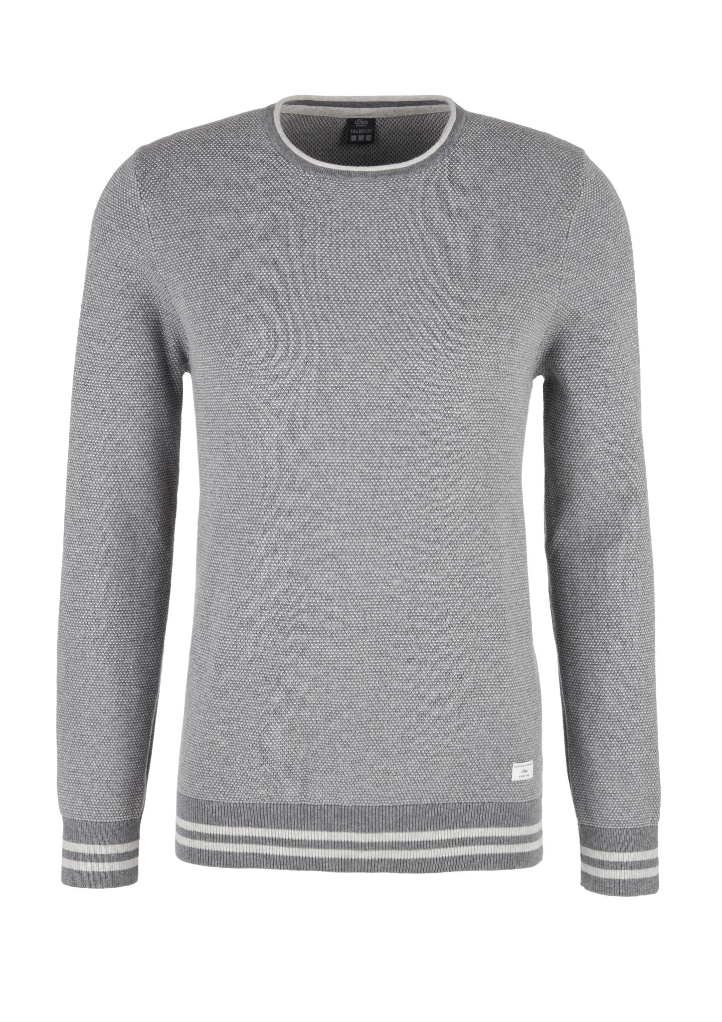 Strickpullover | Bekleidung > Pullover > Sonstige Pullover | Grau | 100% baumwolle | s.Oliver