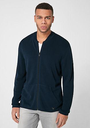 Basic-Strickjacke mit Zipper