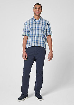 Regular: short sleeve check shirt from s.Oliver