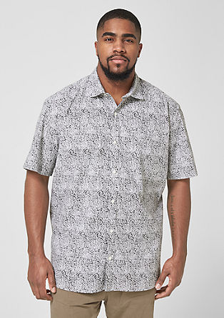 Regular: Finely patterned shirt from s.Oliver