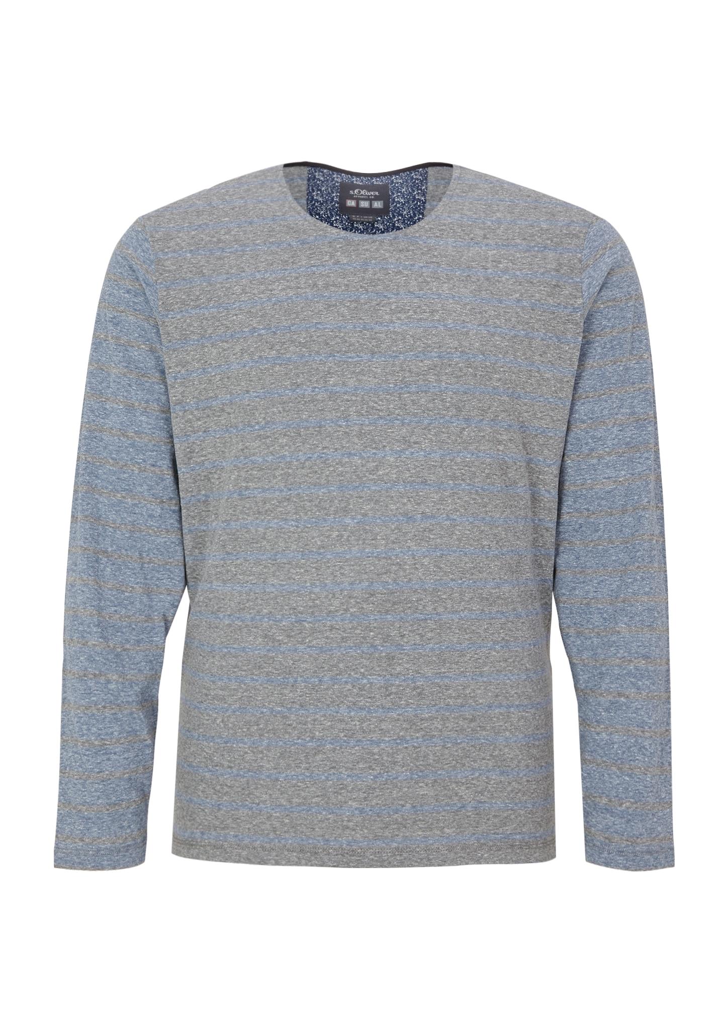 Langarmshirt | Bekleidung > Shirts > Langarm Shirts | Blau | 50% polyester -  38% baumwolle -  12% viskose | s.Oliver Men Big Sizes