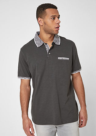 Polo shirt with contrasting details from s.Oliver