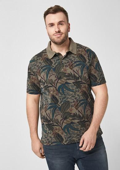 Poloshirt mit Overdye-Print