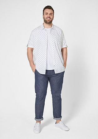 Regular: overhemd met contrasterende details