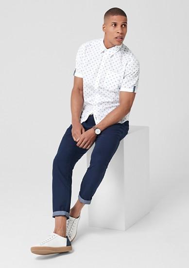 Tall Size: overhemd met fijn motief