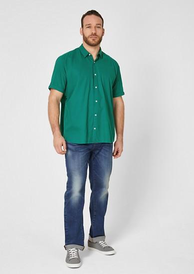 Regular: Hemd aus Leinenmix