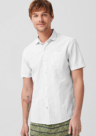 Tall Size: fine check shirt from s.Oliver