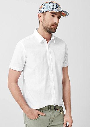 Tall Size: overhemd van een linnenmix